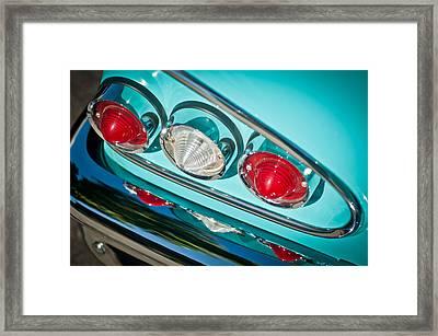 1958 Chevrolet Impala Taillight -0289c Framed Print