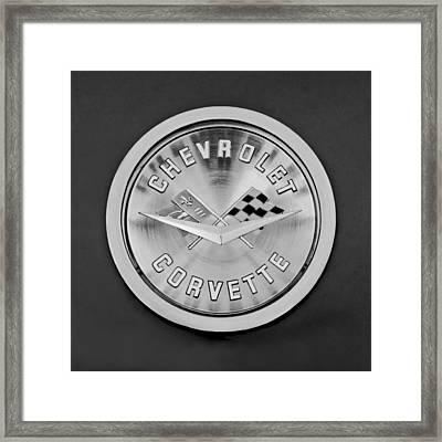1959 Chevrolet Corvette Emblem Framed Print by Jill Reger