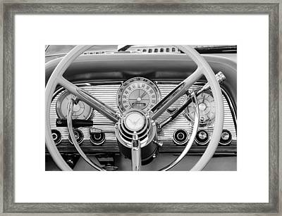 1959 Ford Thunderbird Convertible Steering Wheel Framed Print