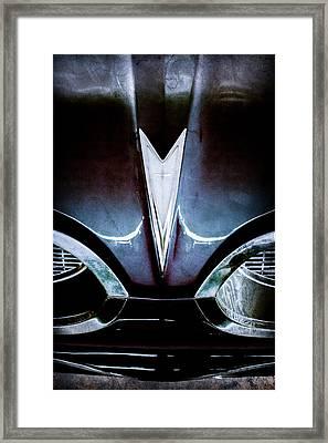 1959 Pontiac Bonneville Convertible Emblem Framed Print by Jill Reger