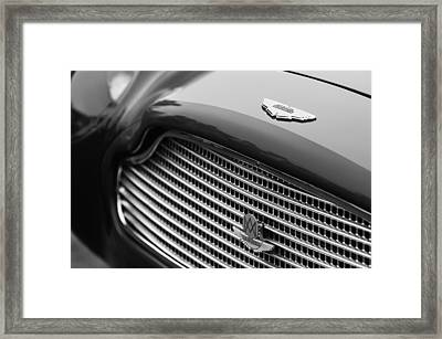 1960 Aston Martin Db4 Gt Coupe' Grille Emblem Framed Print by Jill Reger