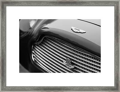 1960 Aston Martin Db4 Gt Coupe' Grille Emblem Framed Print