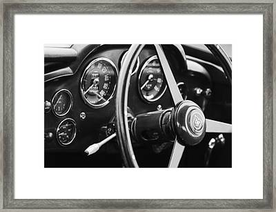 1960 Aston Martin Db4 Gt Coupe' Steering Wheel Emblem Framed Print by Jill Reger