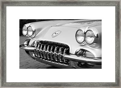 1960 Chevrolet Corvette Grille Framed Print by Jill Reger
