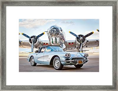 1960 Chevrolet Corvette Framed Print by Jill Reger