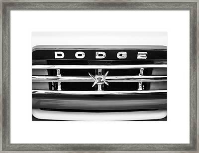 1960 Dodge Truck Grille Emblem Framed Print