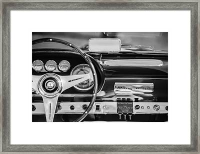 1960 Maserati 3500 Gt Spyder Steering Wheel Emblem Framed Print