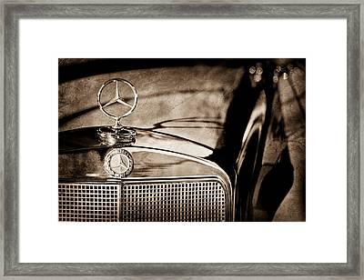 1960 Mercedes-benz 220 Se Convertible Hood Ornament Framed Print by Jill Reger