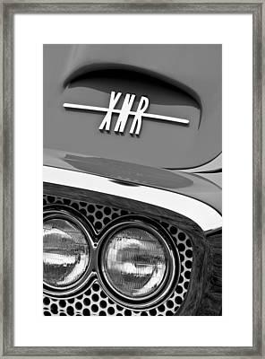 1960 Plymouth Xnr Ghia Roadster Grille Emblem Framed Print by Jill Reger