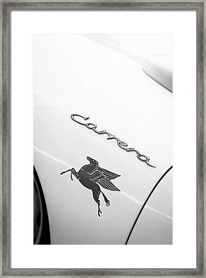1960 Volkswagen Vw Porsche 356 Carrera Gs Gt Replica Emblem Framed Print by Jill Reger