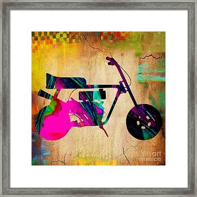 1960's Mini Bike Framed Print by Marvin Blaine