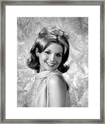 1960s Portrait Smiling Blond Woman Framed Print