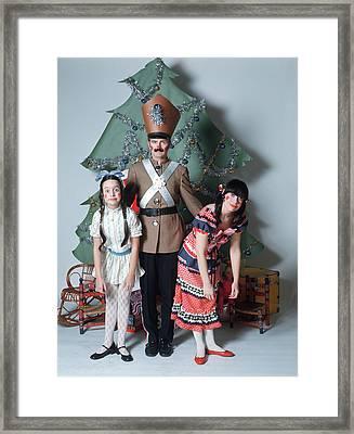 1960s Studio Setting Of Family Dressed Framed Print