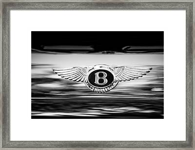 1961 Bentley S2 Continental - Flying Spur - Emblem Framed Print by Jill Reger