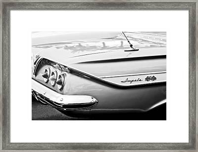 1961 Chevrolet Impala Ss Taillight Emblem Framed Print by Jill Reger