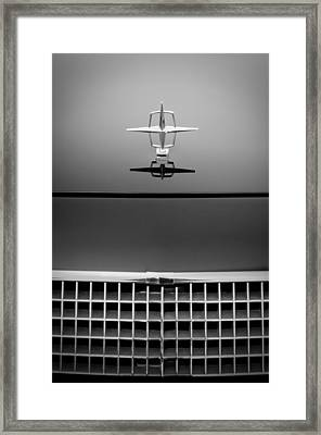 1961 Lincoln Continental Hood Ornament Framed Print by Jill Reger