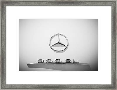 1961 Mercedes Benz 300sl Roadster Emblem Framed Print