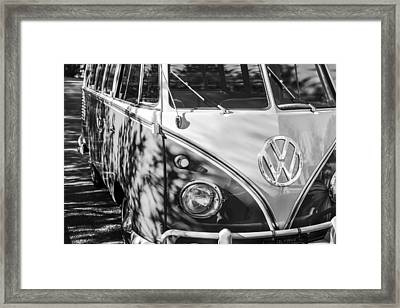 1961 Volkswagen Vw 23-window Deluxe Station Wagon Emblem Framed Print