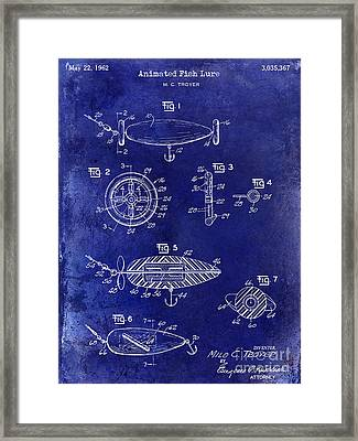 1962 Animated Fish Lure Blue Framed Print