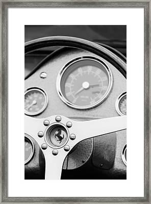 1962 Ferrari 196 Sp Dino Fantuzzi Spyder Steering Wheel Emblem Framed Print by Jill Reger