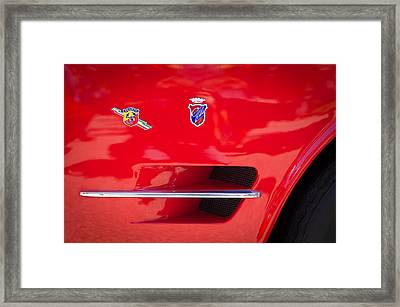 1962 Fiat Abarth 2300 S Coupe Emblems Framed Print by Jill Reger