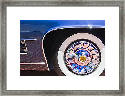Framed Print featuring the photograph 1962 Ghia L6.5 Coupe Wheel Emblem by Jill Reger