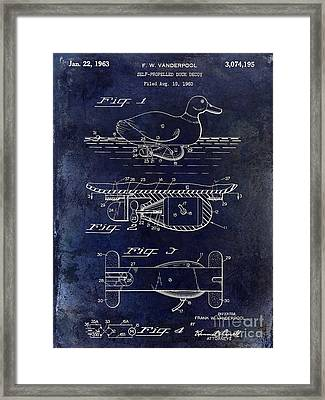 1963 Duck Decoy Patent Drawing Framed Print