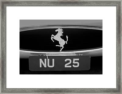 1963 Ferrari 250 Gto Scaglietti Berlinetta Grille Emblem Framed Print