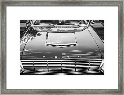 1963 Ford Falcon Sprint Convertible Bw  Framed Print