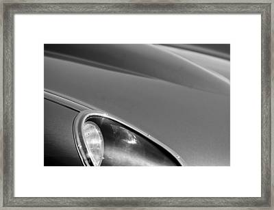 1963 Jaguar Xke Roadster Headlight Framed Print by Jill Reger