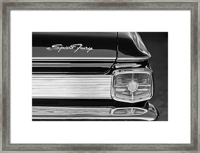 1963 Plymouth Sport Fury Taillight Emblem Framed Print