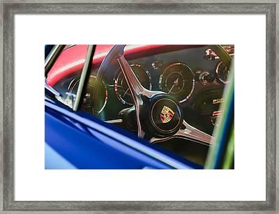 1963 Porsche 356 B 1600 Coupe Steering Wheel Emblem Framed Print