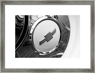 1964 Chevrolet Pickup Truck K 10 Wheel Emblem Framed Print by Jill Reger