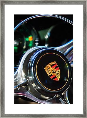 1964 Porsche Steering Wheel Emblem Framed Print