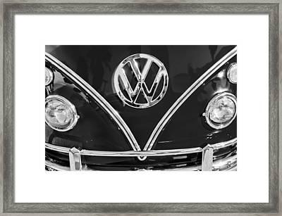 1964 Volkswagen Vw Double Cab Emblem Framed Print by Jill Reger
