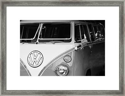 1964 Volkswagen Vw Samba 21 Window Bus Framed Print by Jill Reger