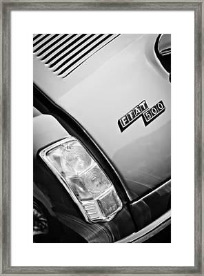 1965 Fiat Taillight Emblem Framed Print