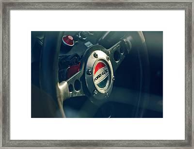 1965 Ford Gt 40 Steering Wheel Emblem Framed Print