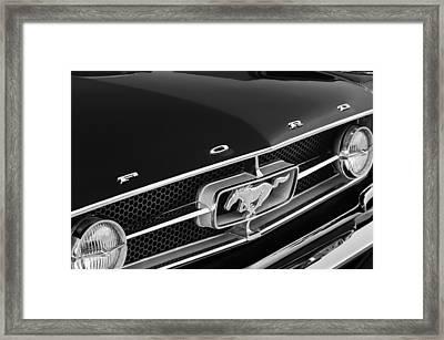 1965 Ford Mustang Grille Emblem Framed Print by Jill Reger