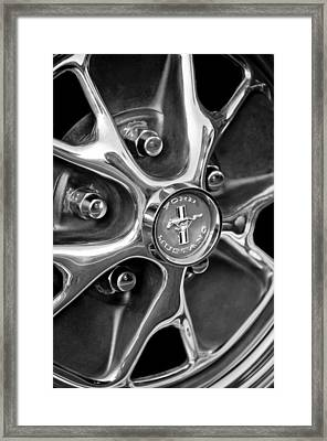 1965 Ford Mustang Wheel Emblem Framed Print by Jill Reger