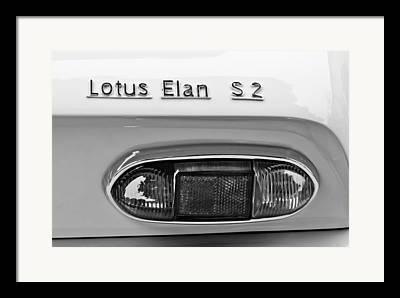 1965 Lotus Elan S2 Taillight Emblem Framed Prints