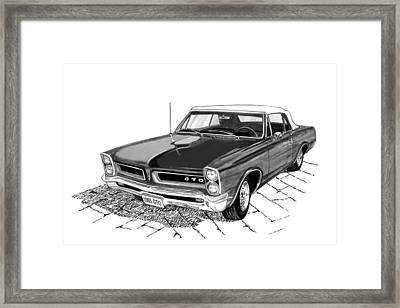 1965 Pontiac G T O Convertible Framed Print by Jack Pumphrey