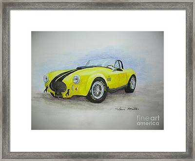 1965 Shelby Cobra Framed Print by Terri Maddin-Miller