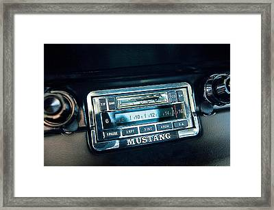 1965 Shelby Prototype Ford Mustang Radio Framed Print by Jill Reger