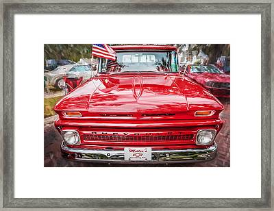 1966 Chevy C10 Pick Up Truck Painted  Framed Print