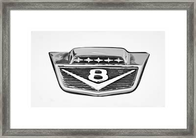 1966 Ford F100 Pickup Truck Emblem Framed Print by Jill Reger