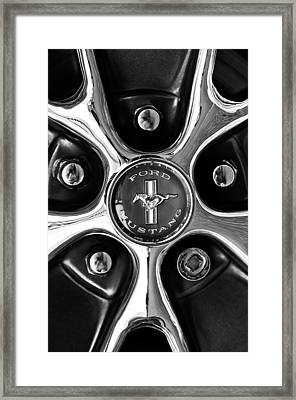 1966 Ford Mustang Gt Wheel Emblem Framed Print by Jill Reger