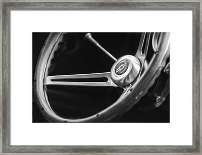1967 Chevrolet Camaro Ss 350 Steering Wheel Emblem  Framed Print