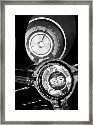 1967 Chevrolet Camaro  Ss Steering Wheel Emblem Emblem Framed Print