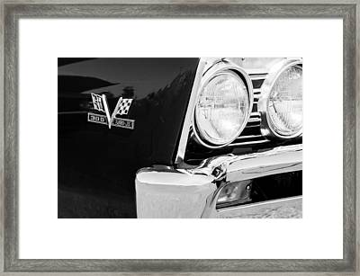 1967 Chevrolet Chevelle Ss Emblem Framed Print